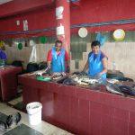 Verarbeitung auf dem Fischmarkt