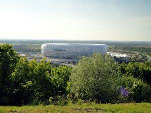 Allianz Arena vom Fröttmaninger Berg