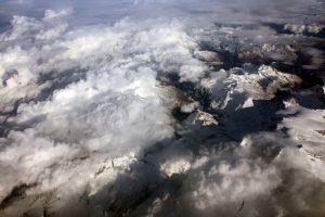 Flug über die Alpen nach Ägypten