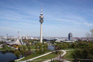 Blick vom Olympiaberg auf München