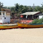 Boote am Bogmallo Strand Goa
