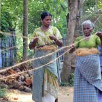 Aus Kokosfasern werden Seile