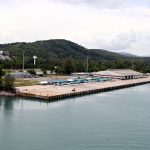 Einfahrt in den Hafen von Phuket
