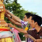 Thai bekleben Altar mit Blallgold