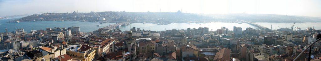 Panorama-Blick vom Galataturm auf Istanbul
