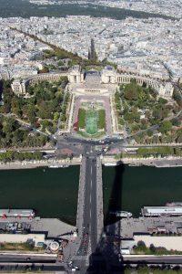 Blick vom Eiffelturm in Paris