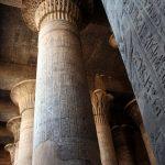 Säulen vom Tempel in Esna