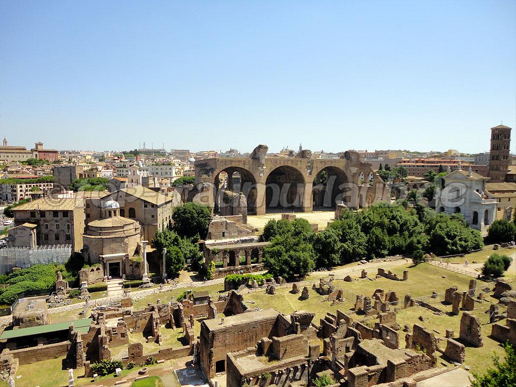 Blick auf Basilika Maxentius