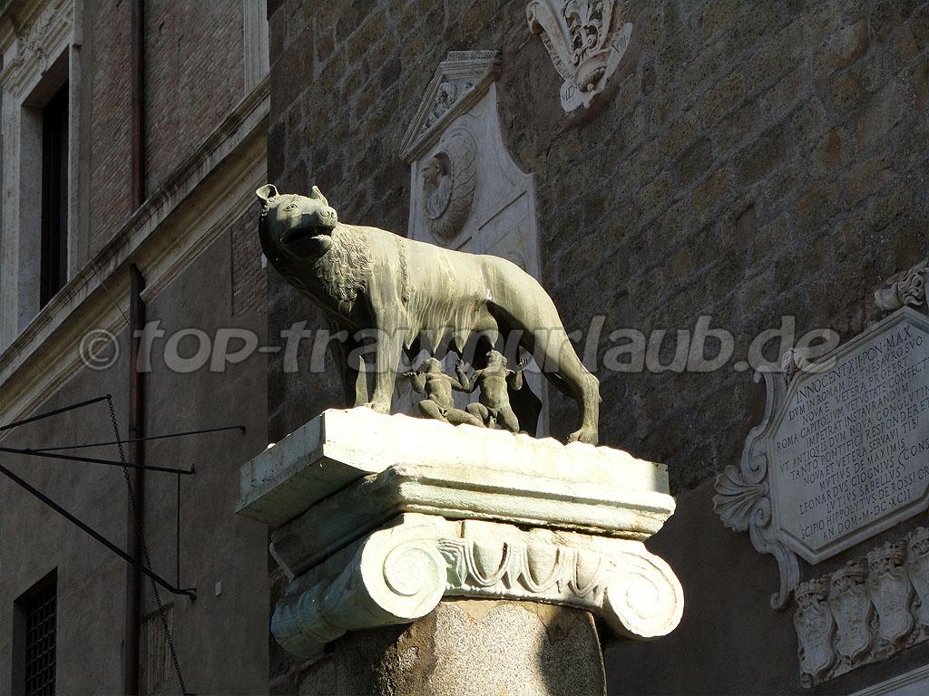 Skulptur - Romulus und Remus