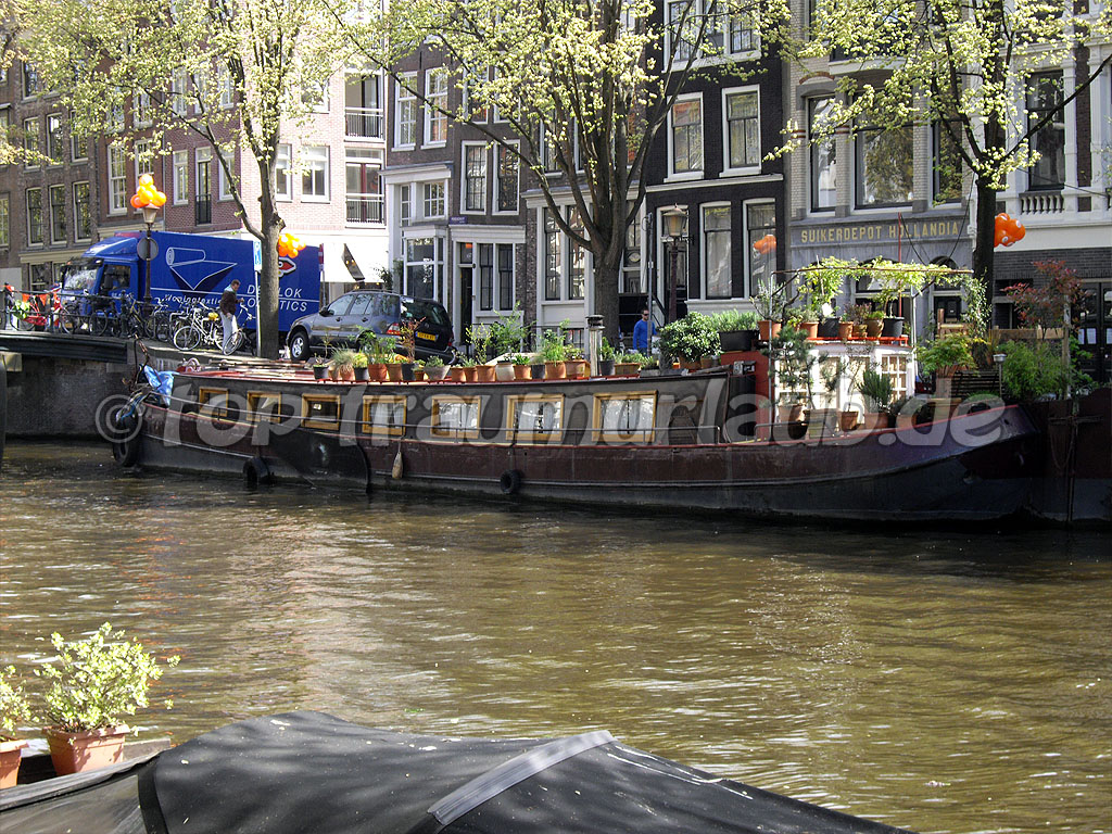 Hausboot in Amsterdam