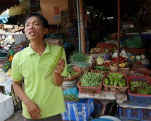 Hoi An - Marktbesuch - Phuoc erklärt Gemüse