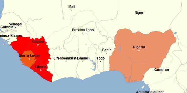Urlaub - Ebola Länder Westafrika