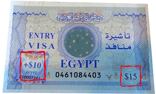 Ägypten-Visum-25$